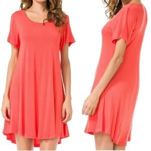 Dresses & Skirts - ❤️3 for $20- T-Shirt Dress in Coral- size 1X
